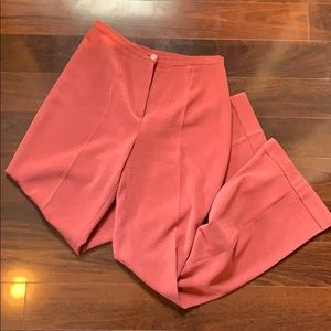 Pants - Middle pleated pink trousers